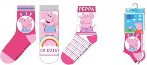 Skarpetki Peppa Pig 3 pak So Cute